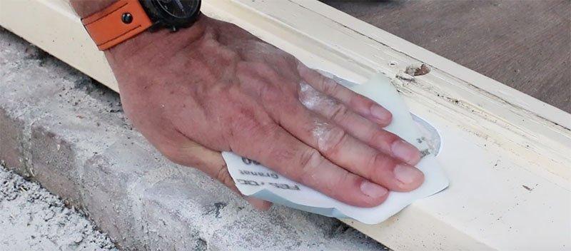 epoxy plamuur schuren